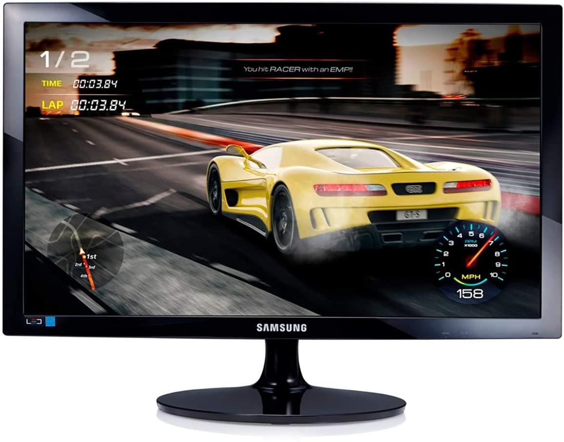O Samsung LS24D332HSX é um monitor gamer barato com tempo de resposta de 1ms e entradas D-Sub, HDMI e DVI (Foto: Divulgação/Samsung)