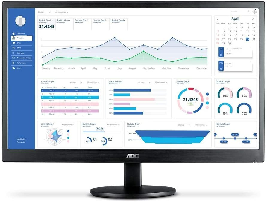 Procurando monitor gamer barato? O AOC M2470SWH2 tem como diferença a tecnologia antirreflexo e WMA (Foto: Divulgação/AOC)
