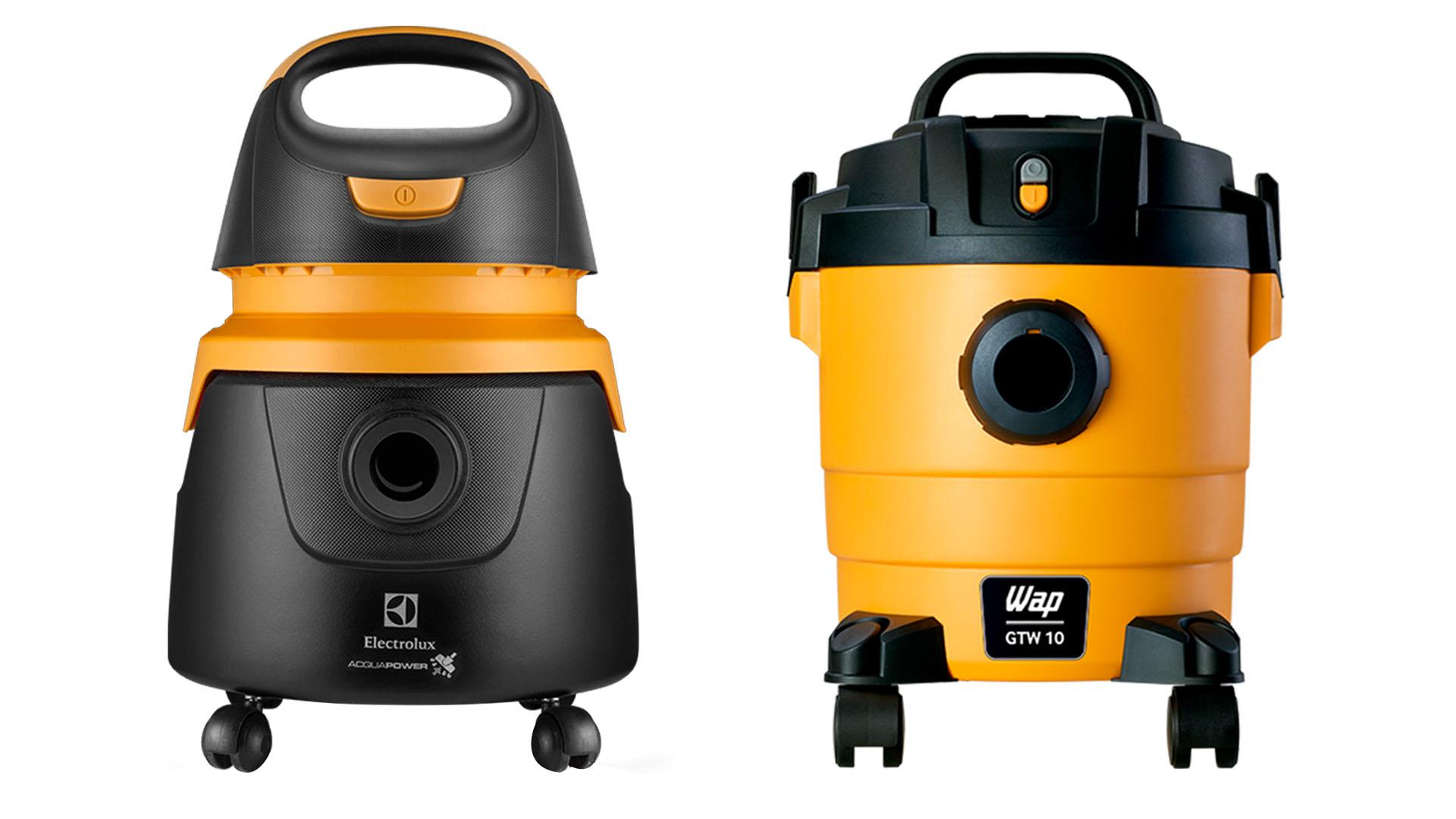 Mesmo que pareçam equivalentes na foto, o aspirador de pó Wap é bem menor que o aspirador de pó Electrolux (Fotos: Divulgação Electrolux/Wap)