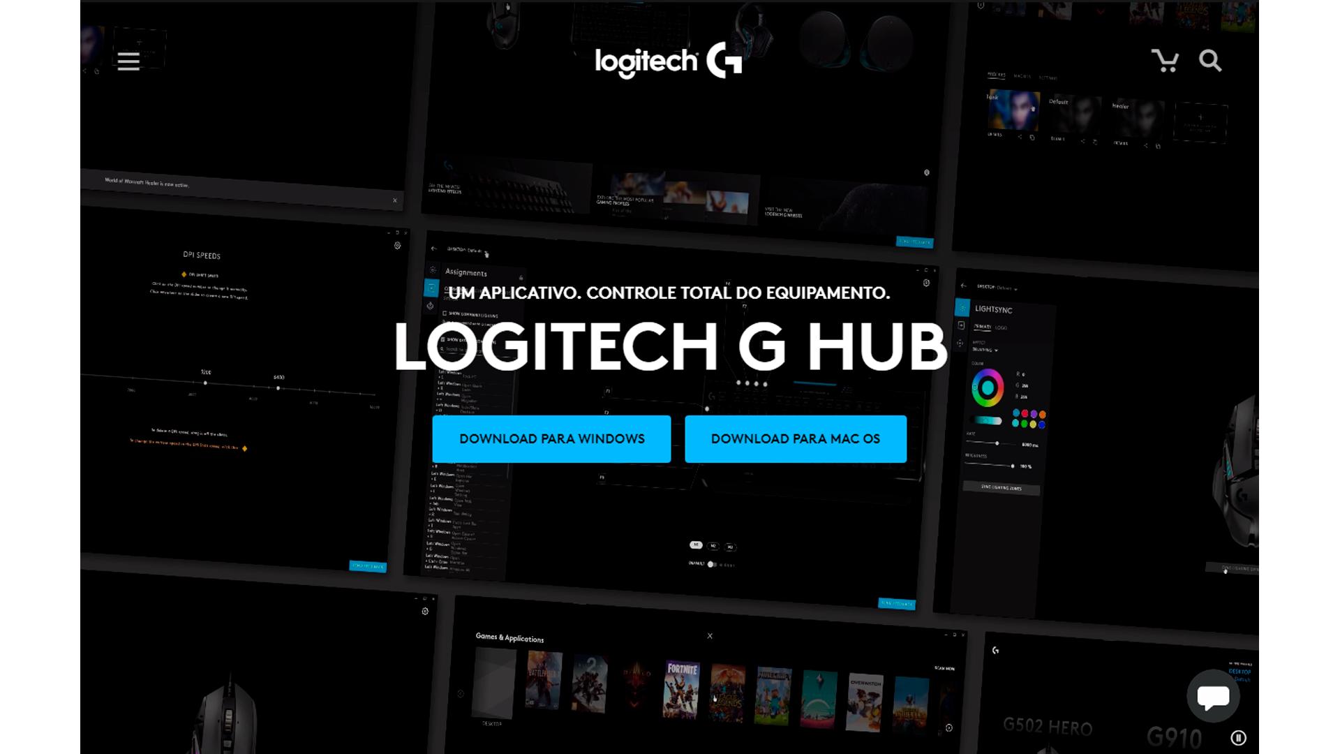 É muito fácil fazer o download do Logitech G Hub (Foto/Hugo Iwaasa)