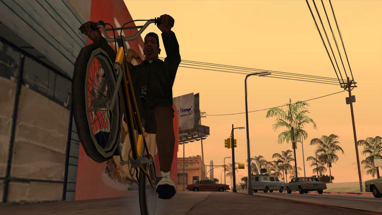 GTA: San Andreas acompanha a história de C.J., personagem que escapou da violência da cidade mas retorna por assuntos inacabados (Reprodução: Steam)