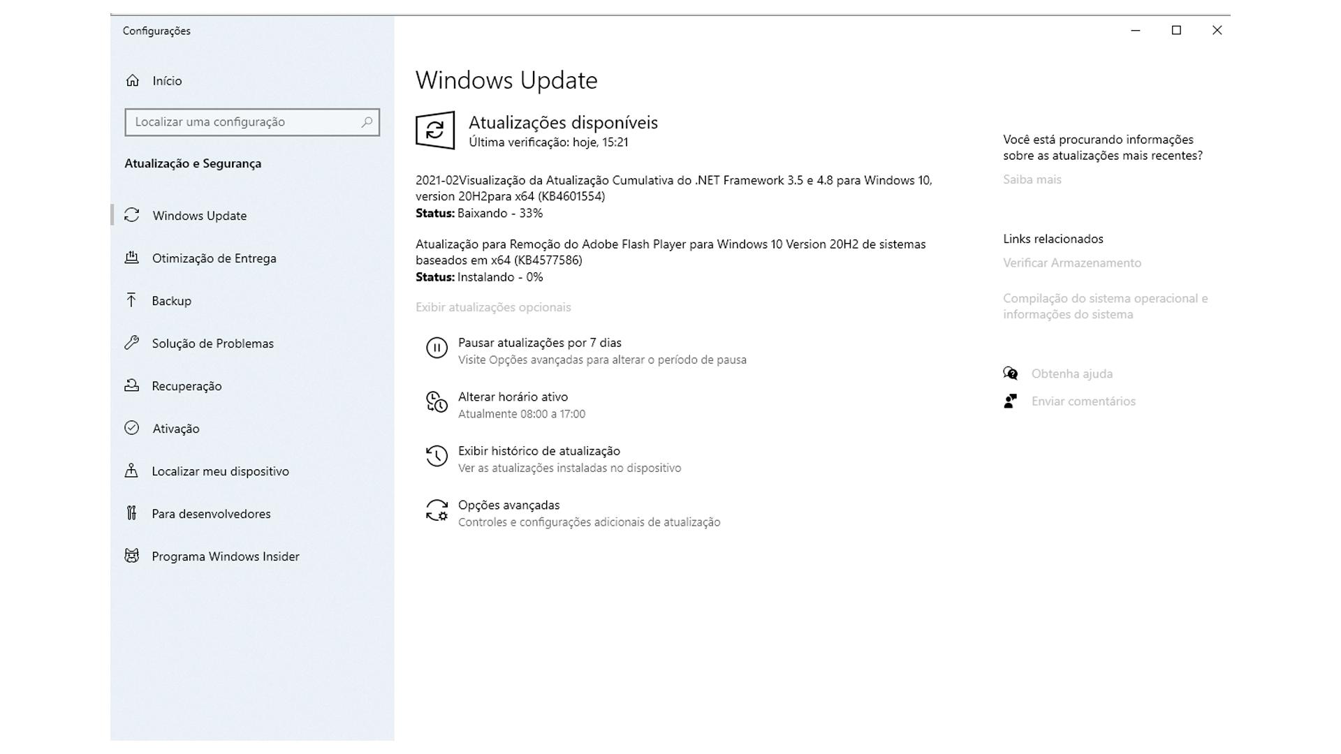 Quando atualizar drivers com Windows Update, a instalação será na próxima reinicialização ou no momento de desligar o PC (Foto/Hugo Iwaasa)