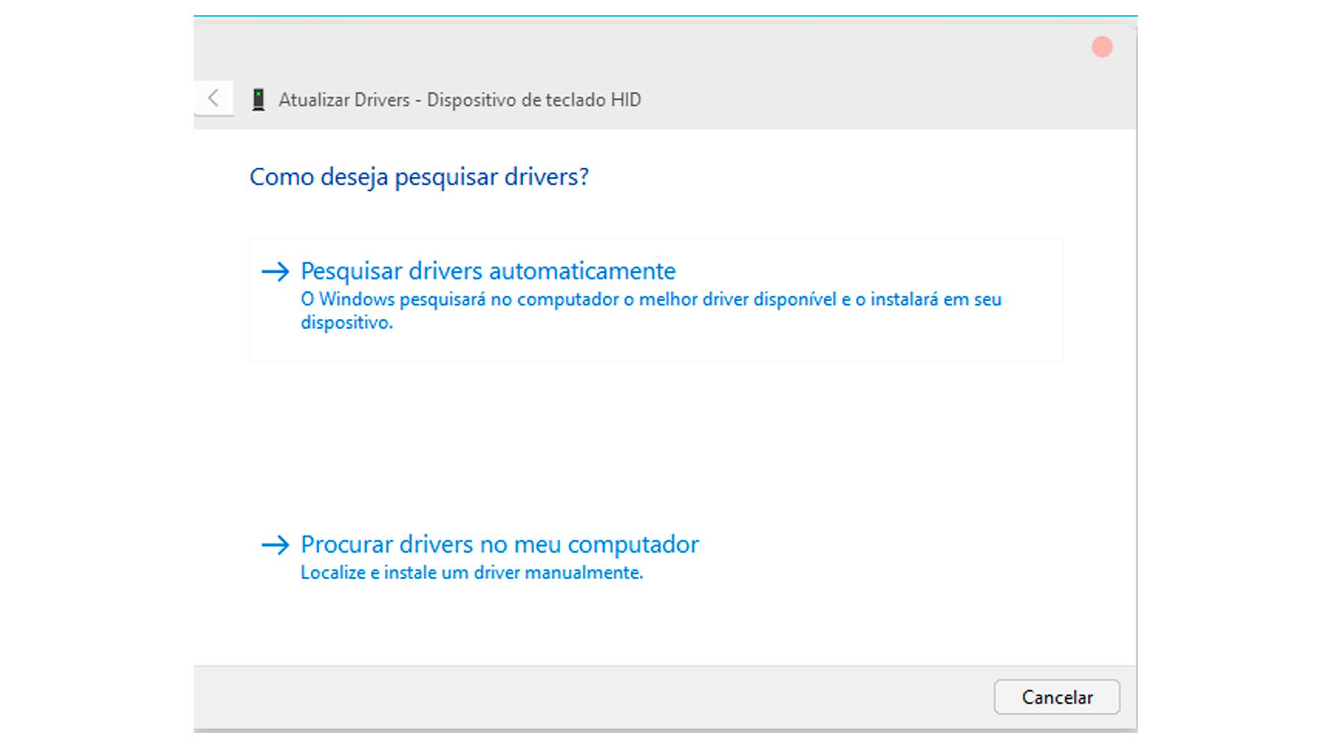 Essa opção irá atualizar drivers se disponível (Foto/Hugo Iwaasa)