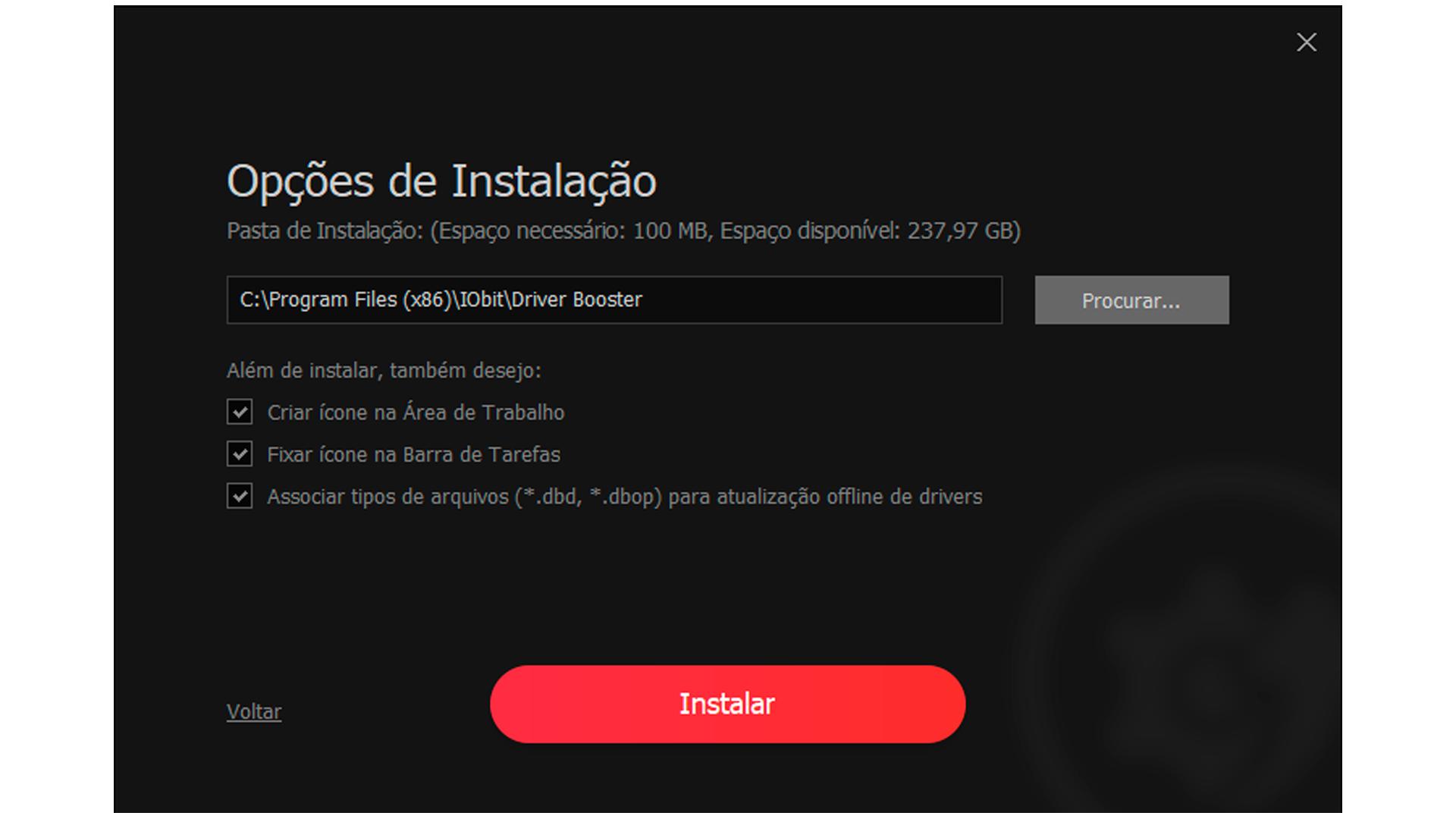Na instalação personalizada, o usuário pode escolher algumas configurações (Foto/Hugo Iwaasa)