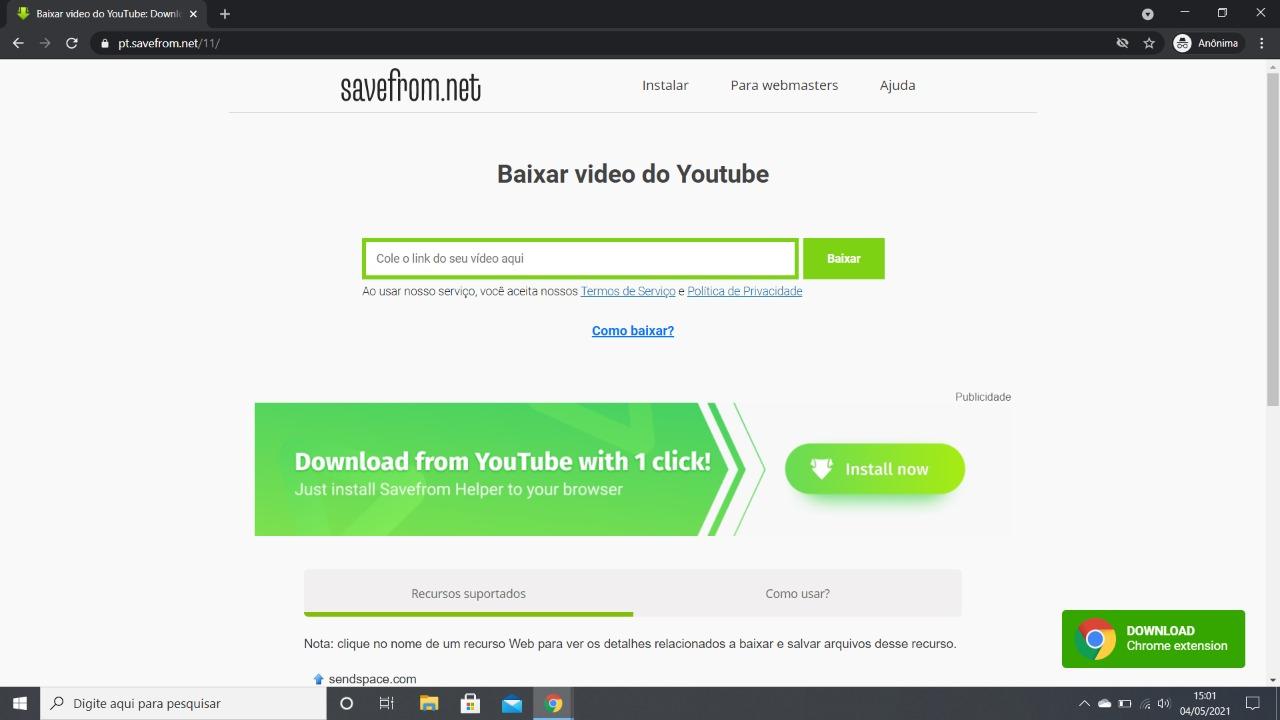 como fazer download de videos do youtube