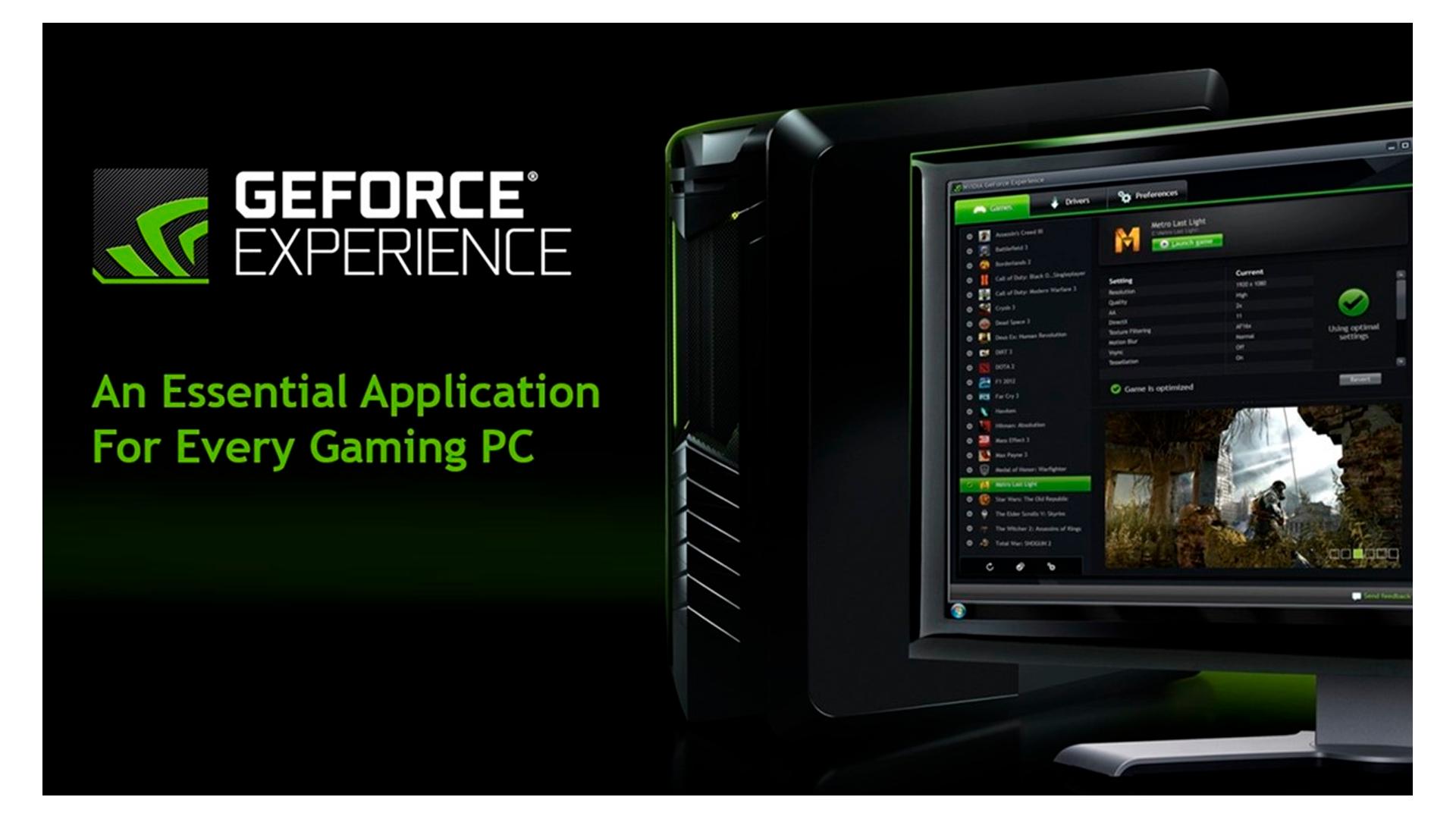 Conheça mais o GeForce Experience (Foto: Divulgação/NVIDIA)