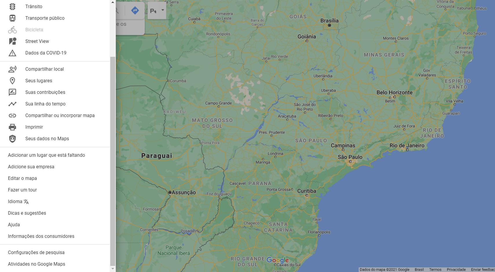 como apagar historico do google maps pc 1