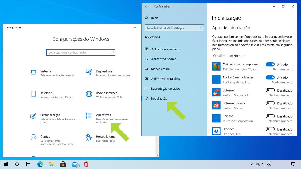 Remover alguns programas da inicialização do seu Windows 10 pode garantir uma performance melhor e ajuda para que ele ligue mais rápido (Reprodução: Redação Zoom)