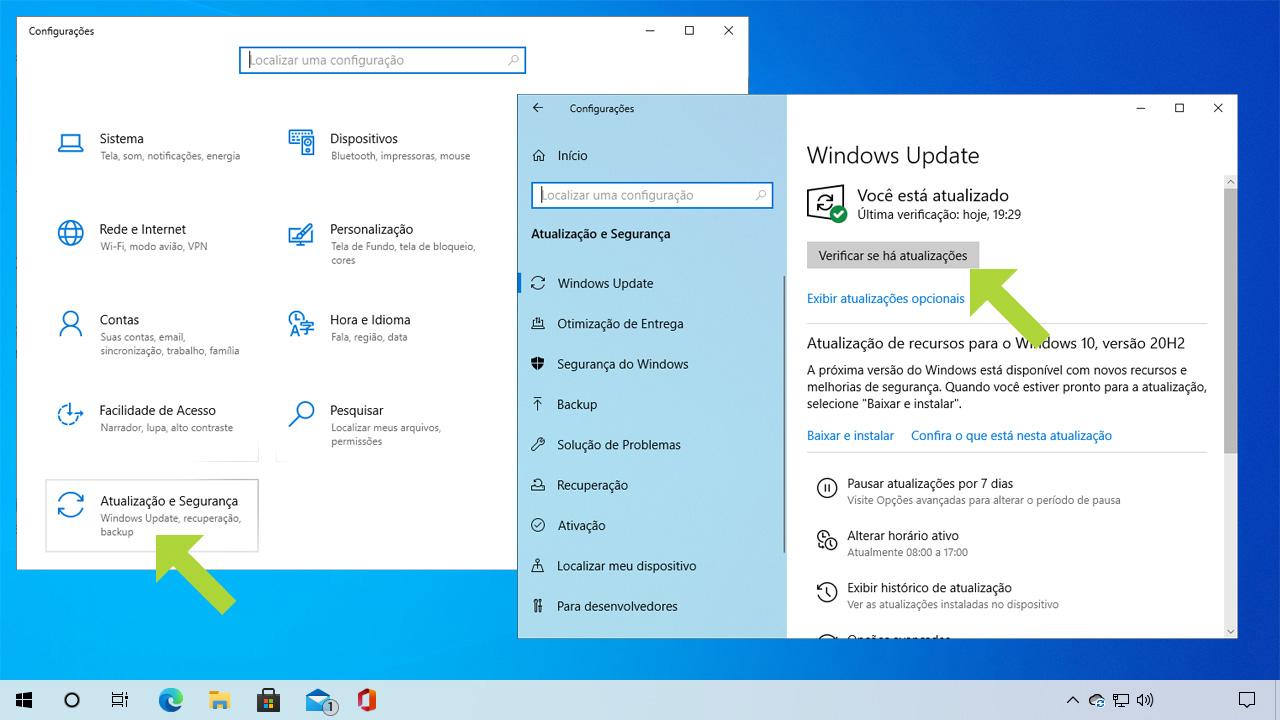 O Windows Update pode manter seu Windows 10 sempre atualiza contra ameaças e problemas que possam afetar sua performance (Reprodução: Redação Zoom)