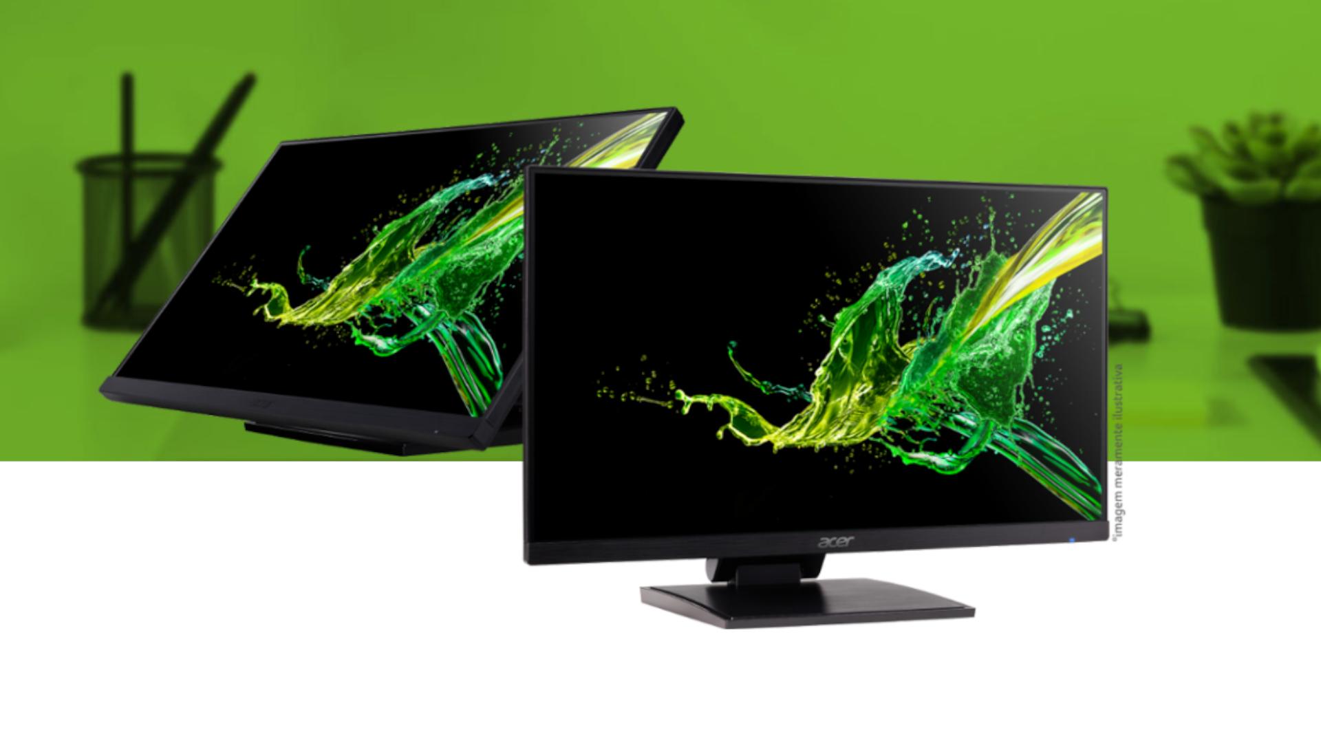 O touch screen do monitor Acer UT241Y é ideal para facilitar a navegação e o trabalho (Foto: Divulgação/Acer)