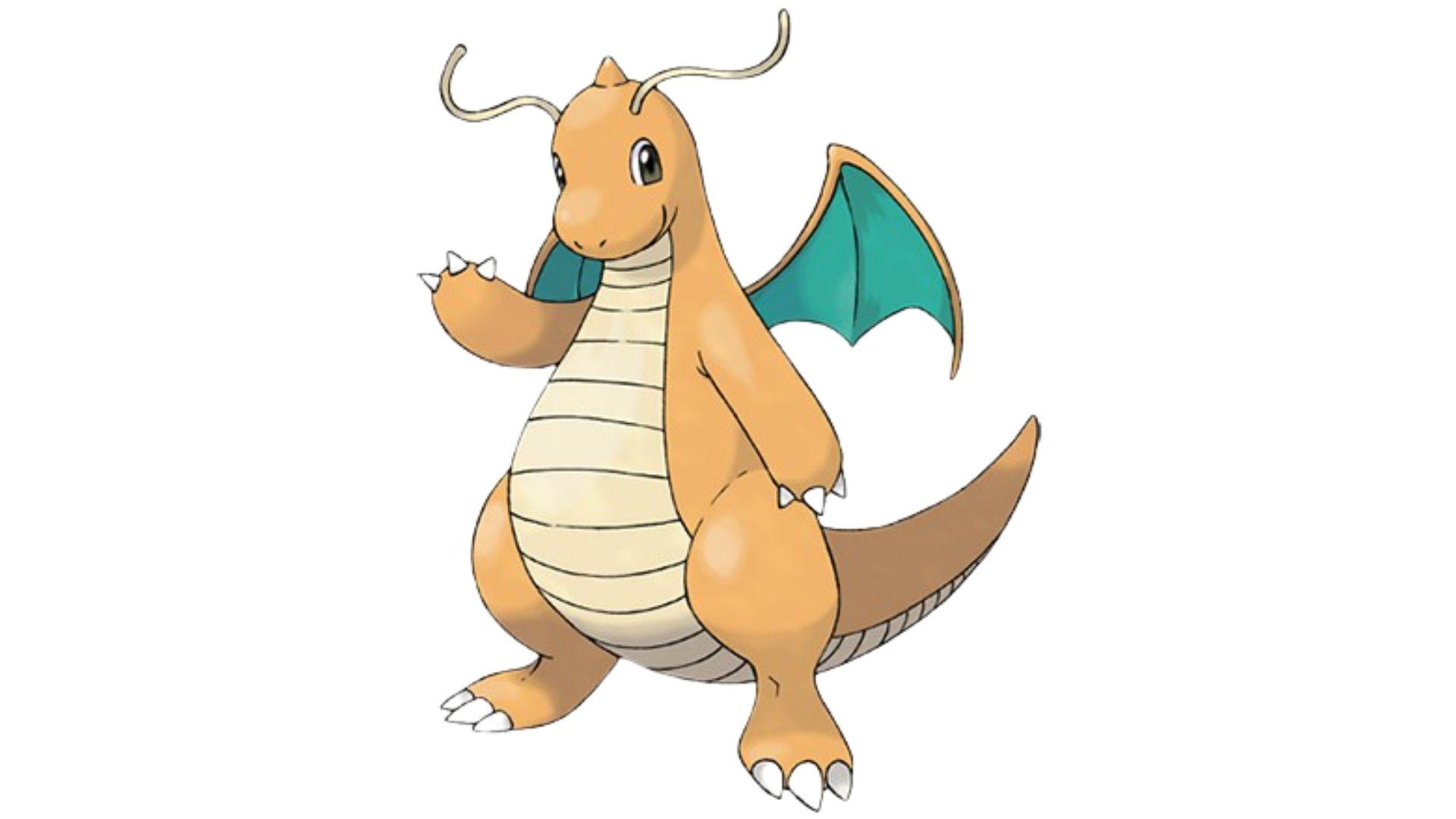 Dragonite é um pokémon do tipo dragão e voador (Foto: Divulgação/Pokémon)