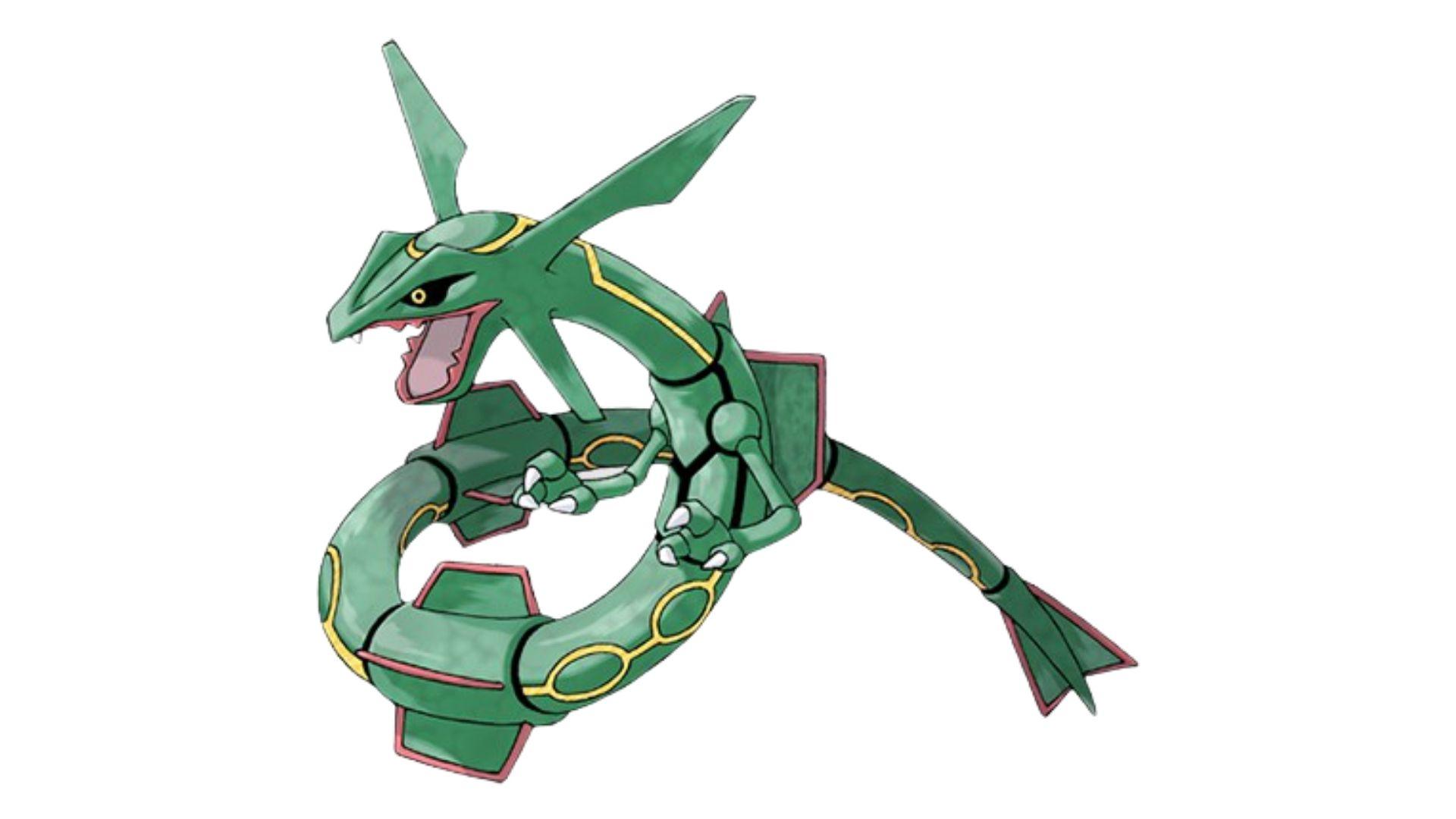 O Rayquaza é um pokémon mais forte da terceira geração dos jogos (Foto: Divulgação/Pokémon)