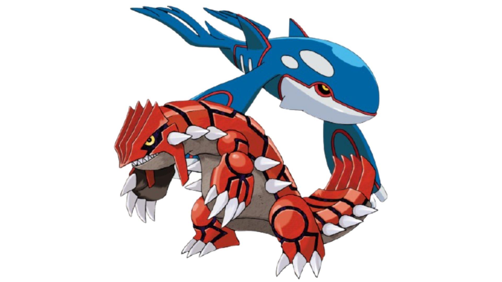 Groudon e Kyogre são os pokémons mais fortes da terceira geração, abaixo apenas do Rayquaza (Foto: Divulgação/Pokémon)