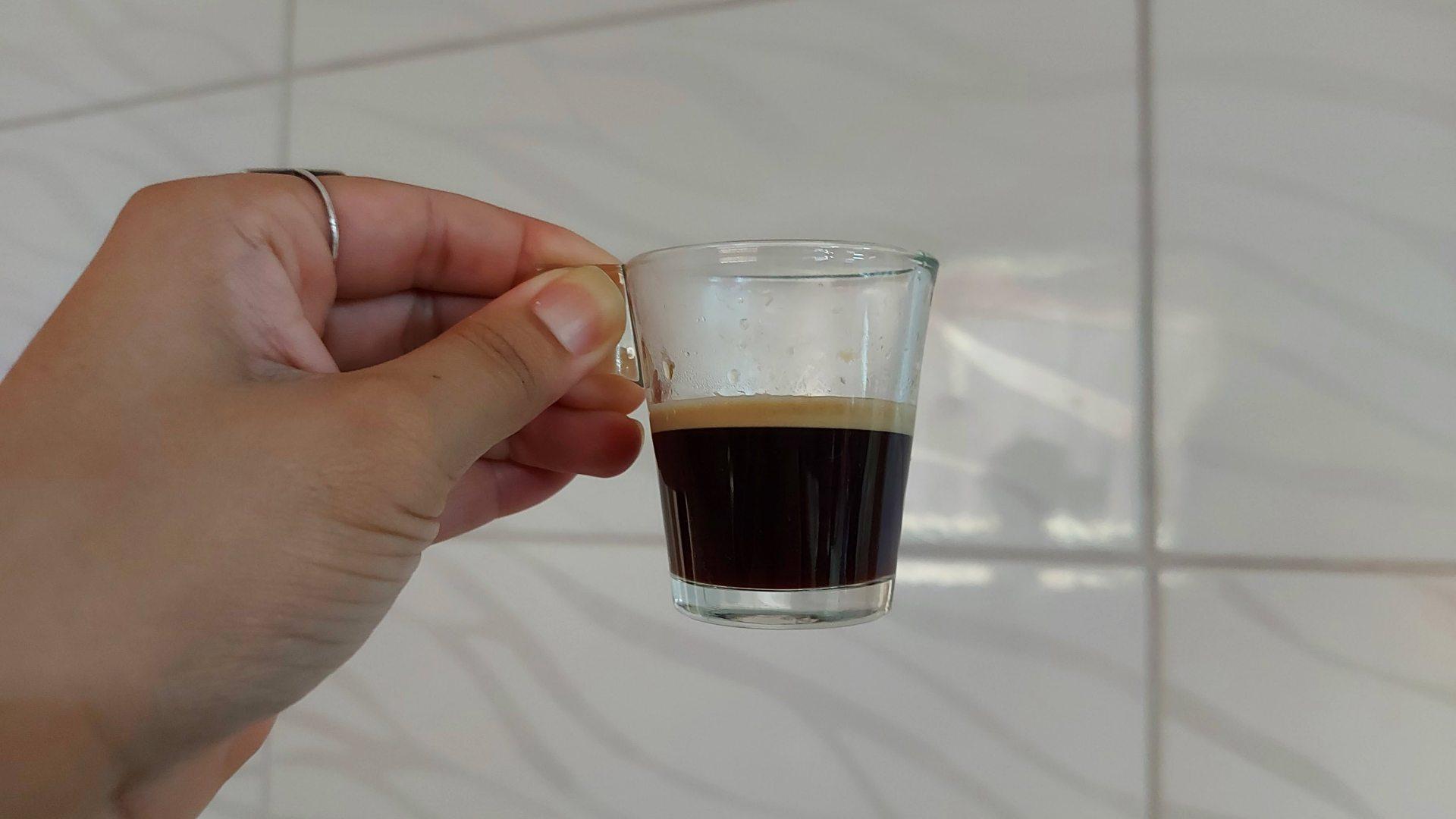 O café expresso curto tem, em média, 40ml (Foto: Acervo Pessoal/Ariel Cristina Borges)