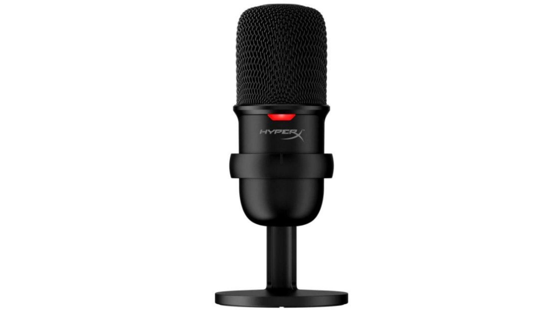 HyperX Solocast tem sensor de toque para silenciar e LED indicador de microfone em mudo (Divulgação/ HyperX)