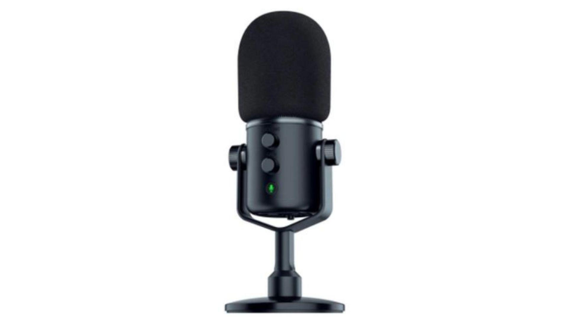 Razer Seiren Elite é indicado para instrumentos, streaming e sobreposição de voz. (Divulgação/ Razer)