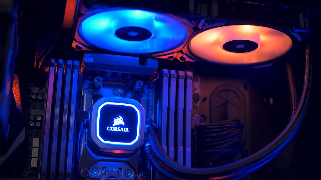 A instalação de um Water Cooler em seu PC garante alta performance em jogos e tarefas pesadas, além de um belo visual interno (Reprodução: Corsair)