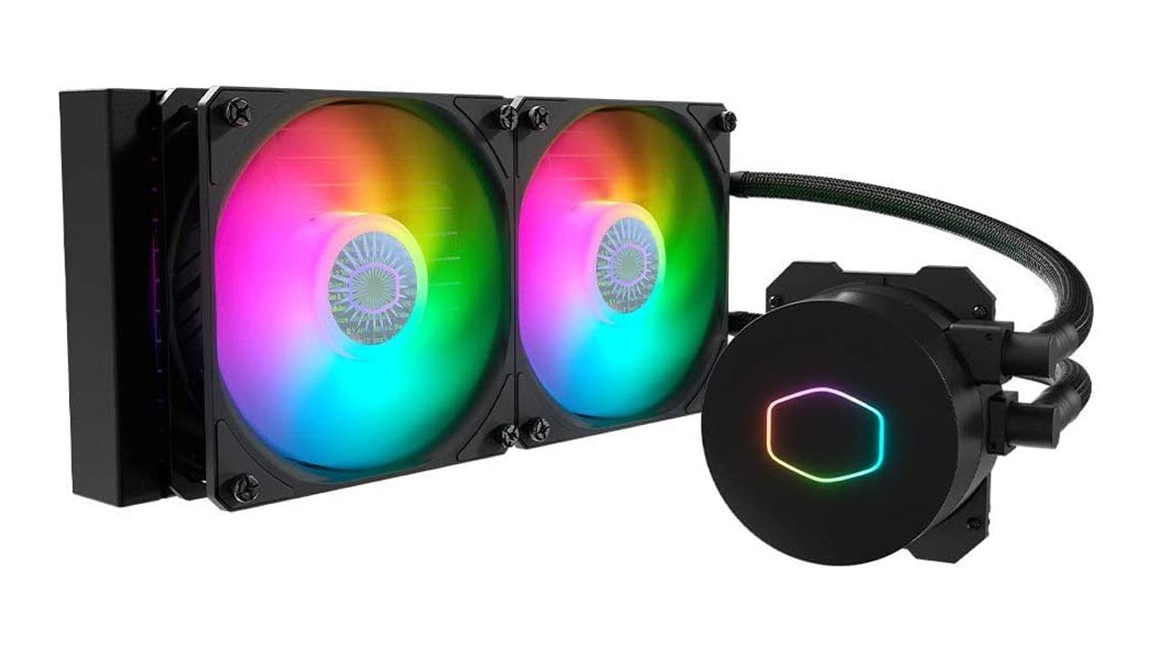 O Liquid Cooler Para Processador Cooler Master MasterLiquid é uma boa opção de entrada sem abrir mão da iluminação (Foto: Divulgação)