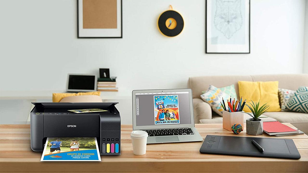 A Impressora Multifuncional Epson Ecotank L4160 é um bom exemplo de dispositivo que tem como imprimir frente e verso automaticamente (Reprodução: Amazon)