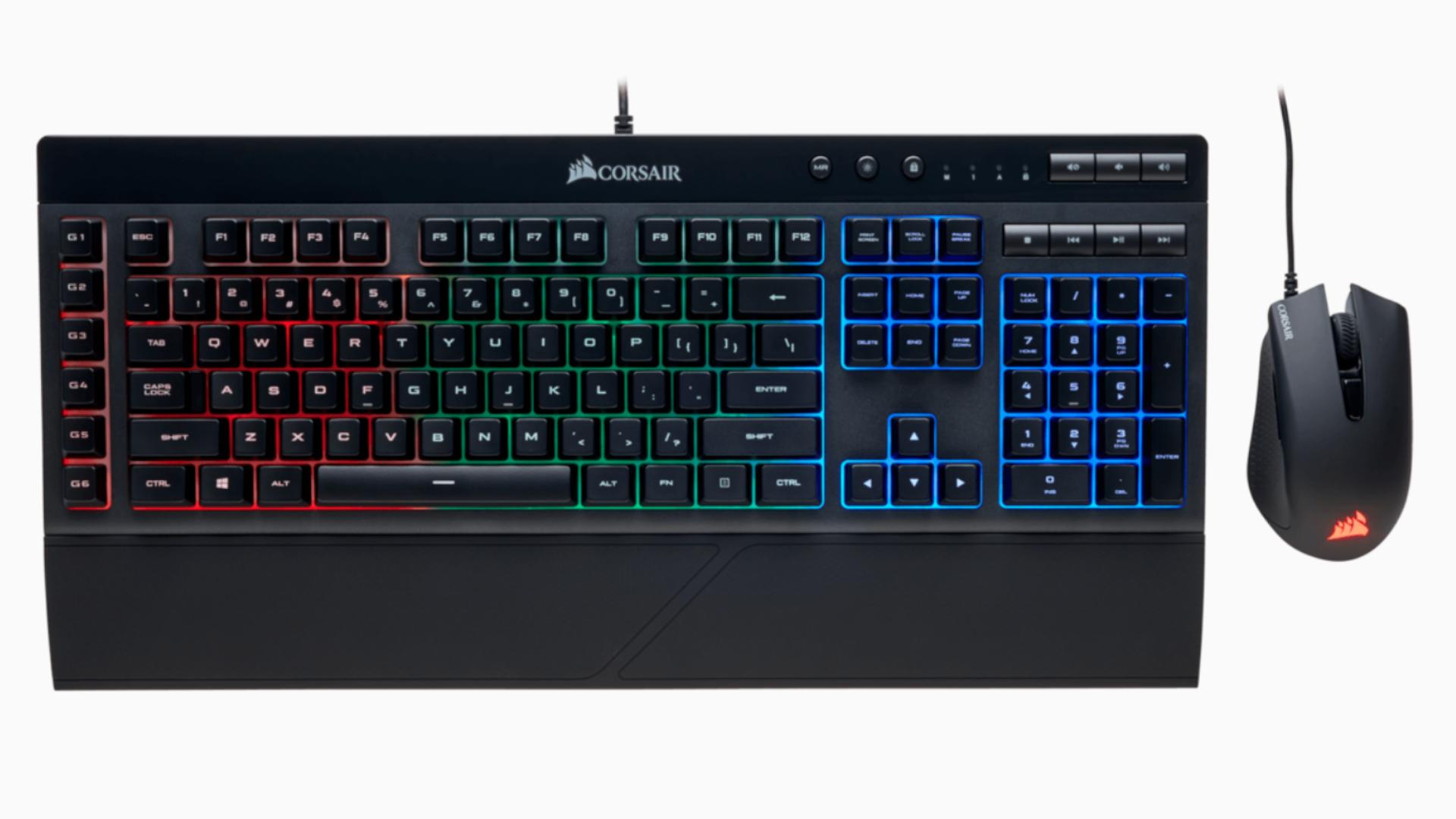Corsair K55 é o teclado gamer mais em conta da fabricante de periféricos (Foto: Divulgação/Corsair)