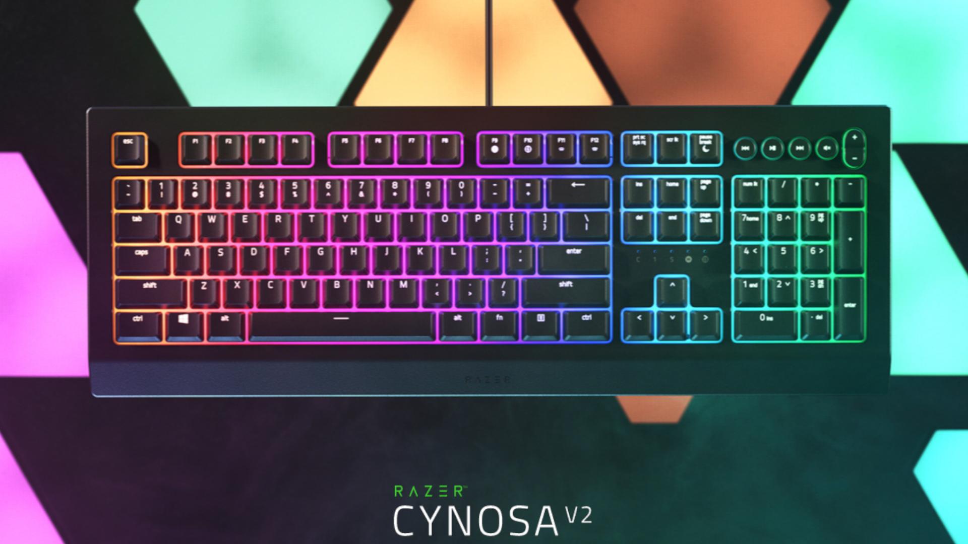 Razer Cynosa Chroma V2 é um teclado gamer de membrana e preço mais acessível para a marca (Foto: Divulgação/Razer)