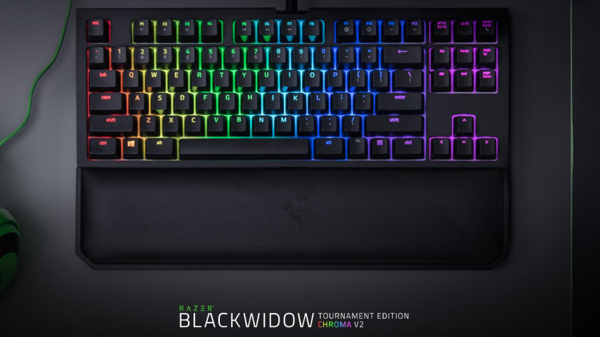 O Teclado Razer Blackwidow Tournament Chroma V2 é um teclado gamer mecânico pensado para uso competitivo (Foto: Divulgação/Razer)