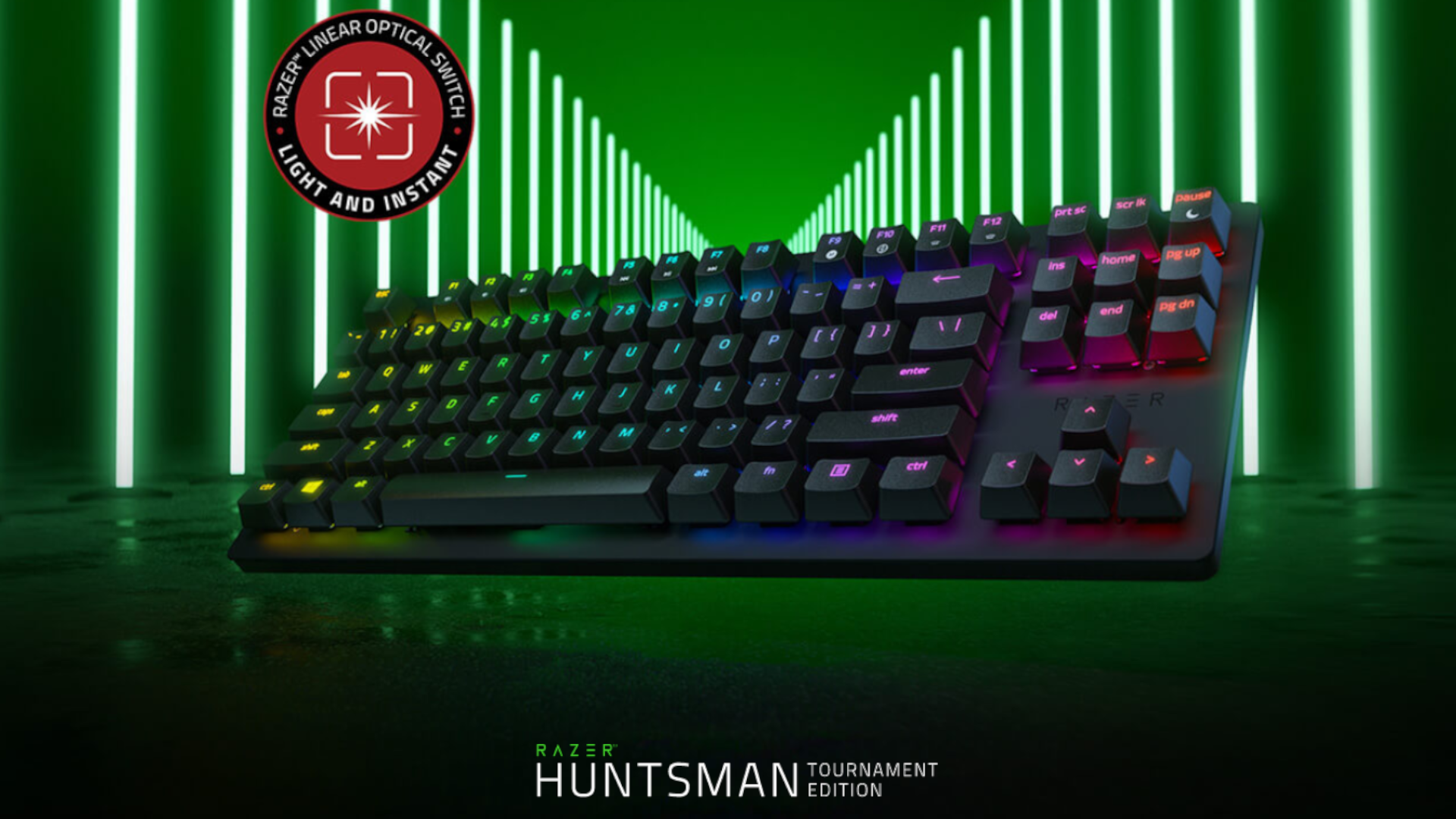 O teclado gamer Razer Huntsman Tournament Óptico promete resposta instantânea e durabilidade (Foto: Divulgação/Razer)