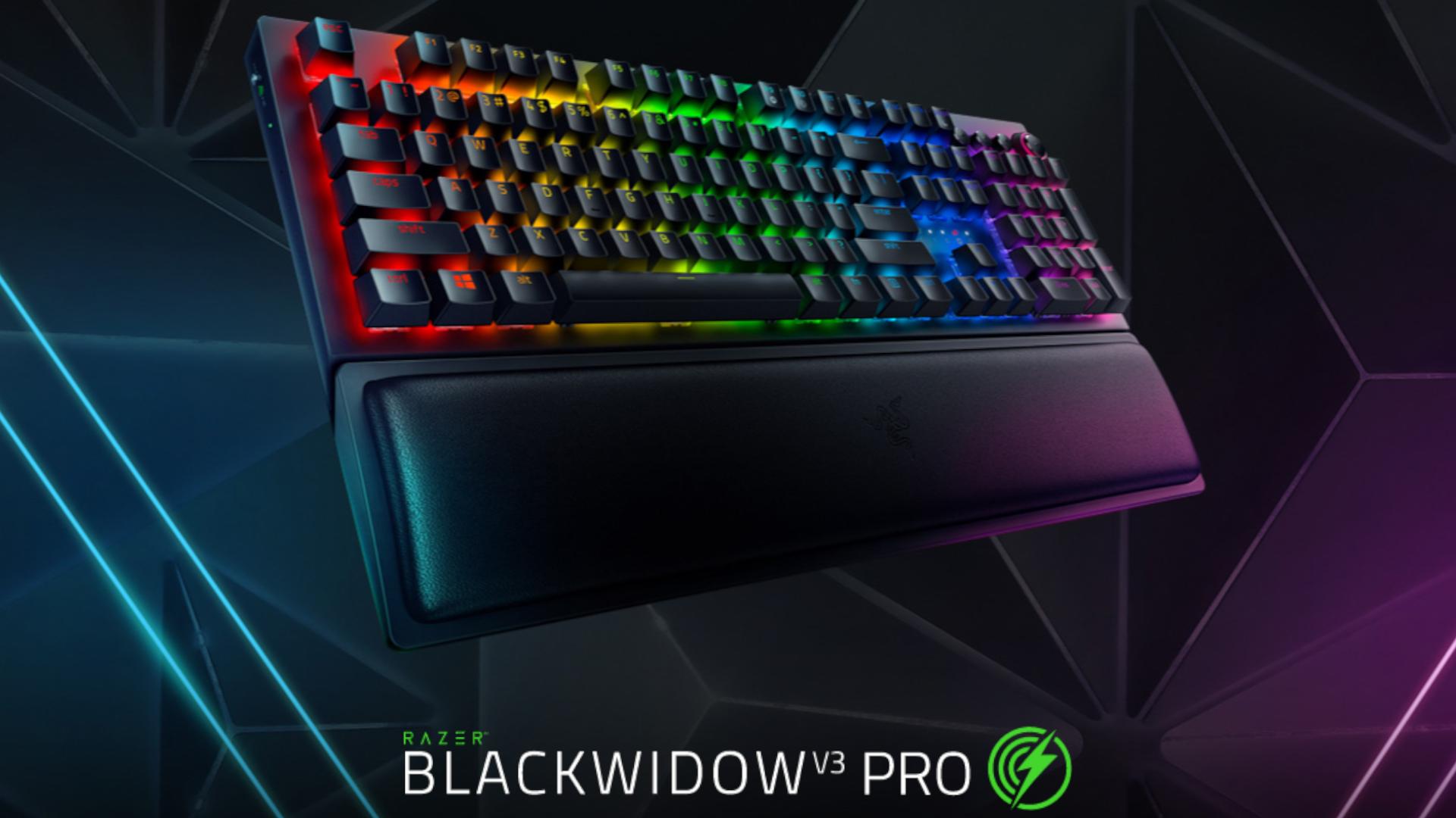 O Teclado Sem Fio Mecânico Gamer Razer BlackWidow V3 Pro é teclado gamer profissional sem fio da Razer (Foto: Divulgação/Razer)