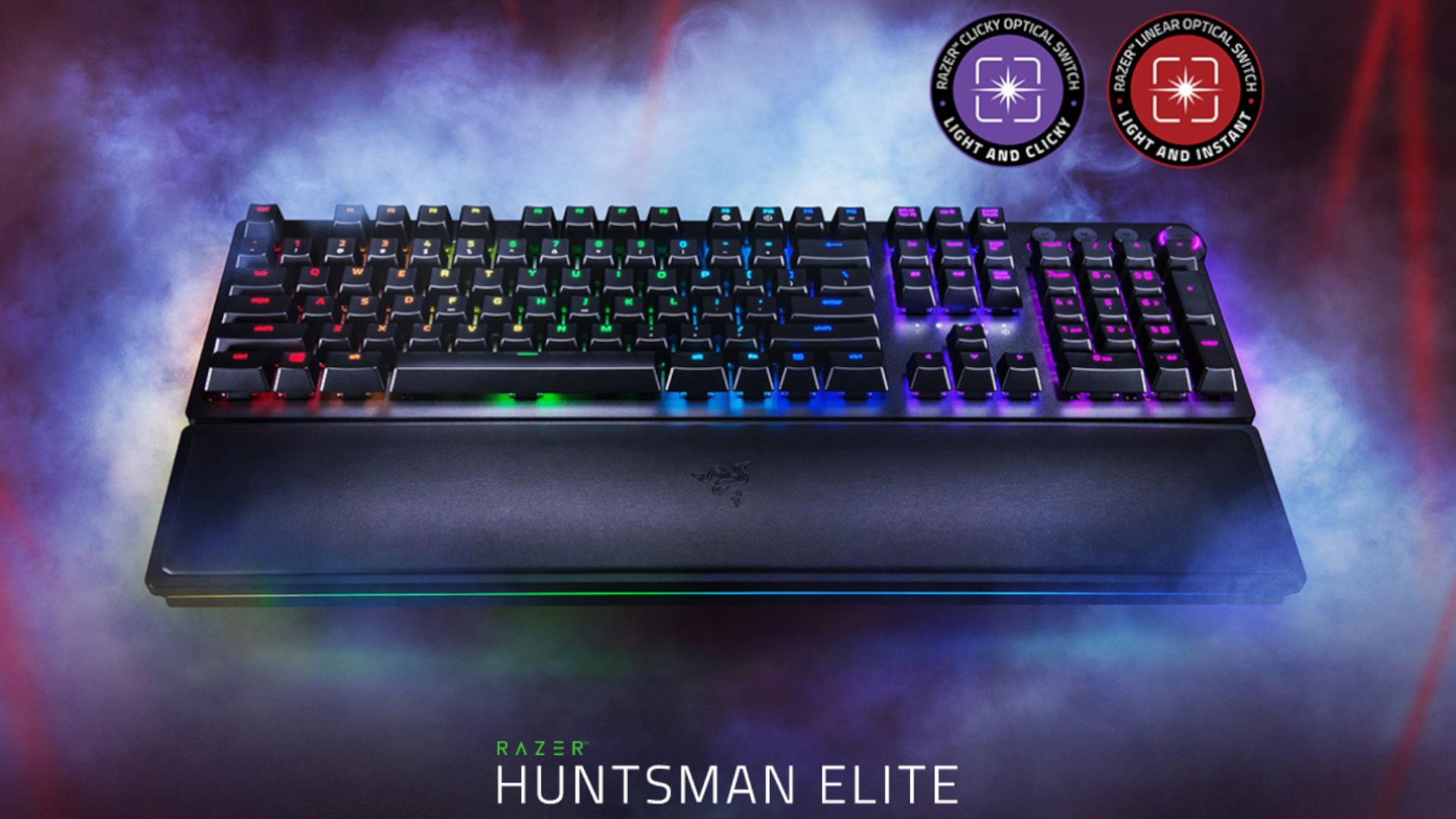 O teclado gamer Razer Huntsman Opto Elite é modelo topo de linha dos teclados ópticos da Razer (Foto: Divulgação/Razer)