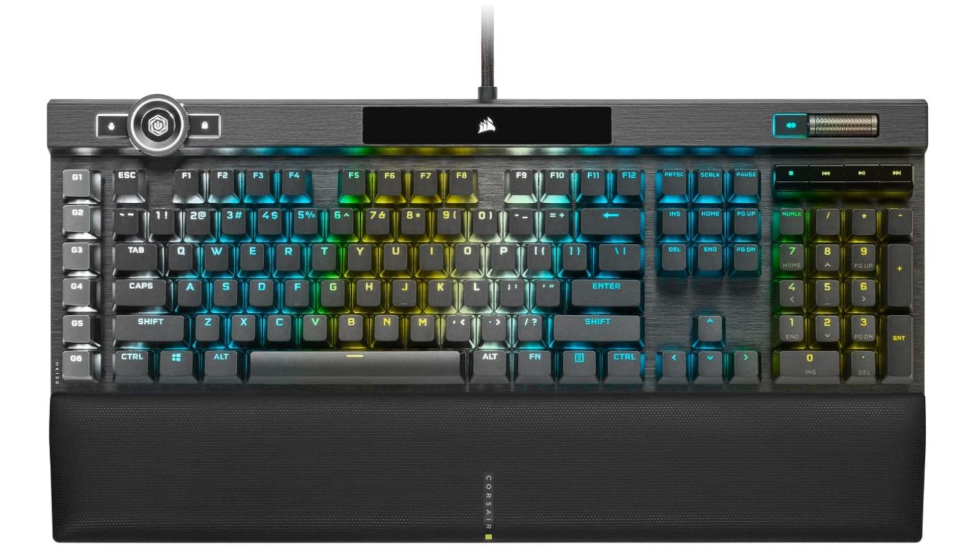 O Corsair K100 Optical RGB é teclado gamer topo de categoria com switches ópticos (Foto: Divulgação/Corsair)