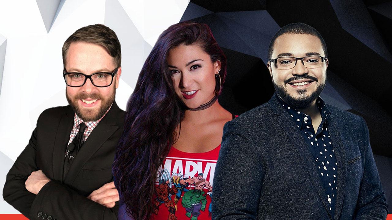 Os apresentadores Greg Miller, Jacki Jing e Alex Mendez foram confirmados para a E3 2021 (Reprodução: E3)